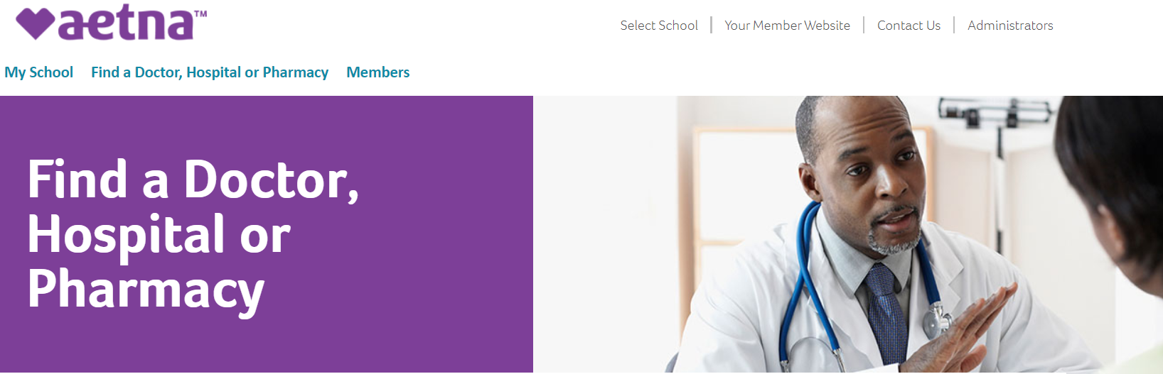 Go to Aetna Student Health website to use find a doctor tool
